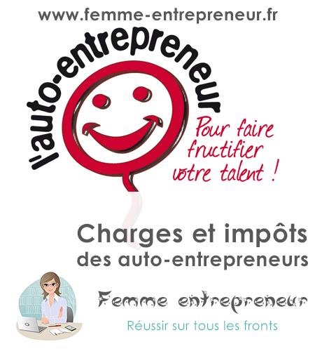 Charges auto entrepreneur cotisations et imp ts femme for Auteur auto entrepreneur